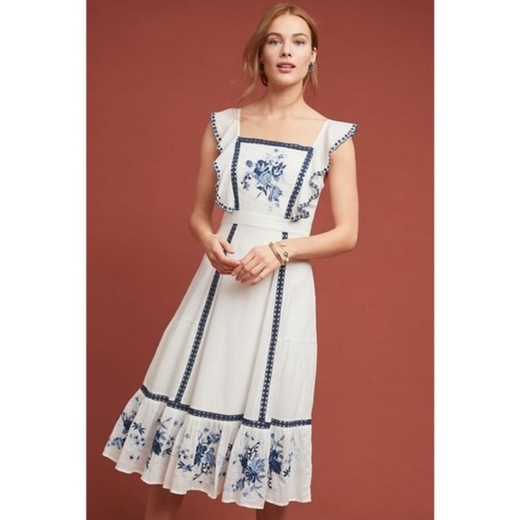 Anthropologie Dresses & Skirts - Anthropologie FARM RIO GALATEA EMBROIDERED DRESS